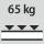 Fachboden Tragfähigkeit / maximale flächenverteilte Fachlast (auf Metall) 65