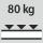 Fachboden Tragfähigkeit / maximale flächenverteilte Fachlast (auf Metall) 80