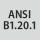 Gewinde-Norm ANSI B 1.20.1