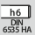 Skaft DIN 6535 HA med h6