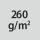 Materialgrammatur / Gewebedichte 260