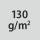 Materialgrammatur / Gewebedichte 130