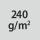 Materialgrammatur / Gewebedichte 240