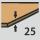 Plattenstärke 25