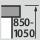 Höhenverstellung Arbeitsplatz 850-1050