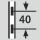 Höhenverstellung im Raster 40