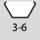 Schlüsselweiten-Bereich 6kt-Schraubenschlüssel 3-6