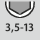 Schlüsselweiten-Bereich 6kt-Steckschlüssel 3,5-13