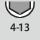 Schlüsselweiten-Bereich 6kt-Steckschlüssel 4-13