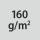 Materialgrammatur / Gewebedichte 160