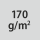 Materialgrammatur / Gewebedichte 170