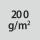Materialgrammatur / Gewebedichte 200