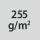 Materialgrammatur / Gewebedichte 255