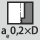 Eingriffsbreite a<sub>e</sub> bei Fräsoperation 0,2×D bei Besäumen