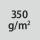 Materialgrammatur / Gewebedichte 350