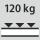 Fachboden Tragfähigkeit / maximale flächenverteilte Fachlast (auf Metall) 120