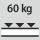 Fachboden Tragfähigkeit / maximale flächenverteilte Fachlast (auf Metall) 60