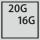 Füllgrad einer Schublade inG 20×16
