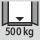 Tragfähigkeit Schrankgehäuse innen 500