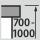Höhenverstellung Arbeitsplatz 700-1000