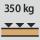 Werkbank/Tisch Tragfähigkeit – maximale flächenverteilte Fachlast (auf Holz) 350