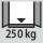 Tragfähigkeit Schrankgehäuse innen 250