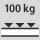 Fachboden Tragfähigkeit / maximale flächenverteilte Fachlast (auf Metall) 100