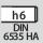 Schaft DIN 6535 HA mit h6