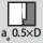 Cutting width a<sub>e</sub> for milling operation Full slot cutting depth 1×D