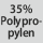 Gewebezusammensetzung 35% Polypropylen