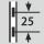 Height adjustment interval 25
