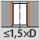 Verwendung bei Bohrungsart bis 1,5×D bei Durchgangsloch