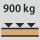 Werkbank/Tisch Tragfähigkeit – maximale flächenverteilte Fachlast (auf Holz) 900