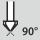 Countersink tip angle 90