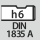 Shank DIN 1835 A to h6