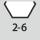 Schlüsselweiten-Bereich 6kt-Schraubenschlüssel 2-6