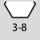 Schlüsselweiten-Bereich 6kt-Schraubenschlüssel 3-8