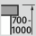 Height adjustment workstation 700-1000