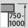 Height adjustment workstation 750-1000