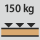 Workbench/desk load capacity - maximum distributed load (on wood) 150