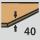 Insert  thickness 40