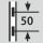 Height adjustment interval 50