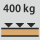 Workbench/desk load capacity - maximum distributed load (on wood) 400