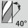Helix angle 40