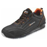 Chaussures basses, noir/orange CREGAN, S3