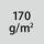 Materiaalin paino / kankaan paksuus 170