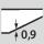 Epaisseur du matériau 0,9
