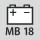 Batterie adaptée – Fournisseur/type de batterie/tension Milwaukee Type B 18 V