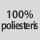 Audinio sudėtis 100% poliesteris