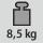 Gewicht 8,5